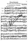 Burkhard Willy   Divertimento für Streichtrio op. 95 (1954)   Studijní partitura - Noty pro smyčcové trio