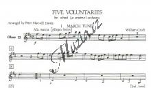 Album | 5 Voluntaries - Part: Hoboj 2 | Noty pro orchestr