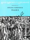Michna Adam z Otradovic | Officium vespertinum - pars II: Psalmi II | Partitura - Noty pro sbor