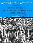 Michna Adam z Otradovic | Officium vespertinum - pars III - Compositiones ad honorem B. M. V. | Partitura - Noty pro sbor