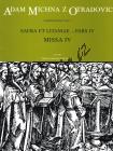 Michna Adam z Otradovic | Sacra et litaniae - pars IV: Missa 4 | Partitura - Noty pro sbor
