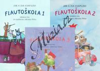 Kvapil Jan, Kvapilová Eva | Flautoškola - Učebnice hry na sopránovou zobcovou flétnu - Díly 1,2,3 | Noty na zobcovou flétnu