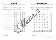 Vozar Martin | Súbor hudobných doplňovačiek, krížoviek a osemsmeroviek | Pracovní listy - Hudební teorie