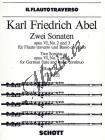 Abel Carl Friedrich | Zwei Sonaten op. 6/2 + 3 | Noty na příčnou flétnu