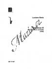 Berio Luciano | Sequenza IXb | Noty na saxofon