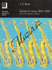 Bach Johann Sebastian | Sonata, g-Moll  BWV 1020 | Noty na saxofon