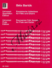 Bartók Béla | Rumänische Volkstänze | Noty na příčnou flétnu