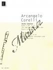 Corelli Arcangelo | Šest sonát, Sešit 2 (Sonáty 4-6) pro dvě zobcové flétny a basso continuo  | Partitura a party - Noty na zobcovou flétnu