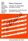 Castrucci Pietro | 2 Sonaten, Op. 1/5-6 | Noty na zobcovou flétnu