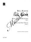 Bartók Béla   Duos, vol. 1   Noty na violu
