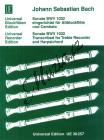 Bach Johann Sebastian | Sonate, C-Dur  BWV 1032 | Noty na zobcovou flétnu