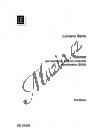 Berio Luciano   Stanze   Studijní partitura - Noty pro sbor