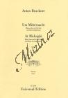 Bruckner Anton   Um Mitternacht 1. Fassung  f-Moll   Klavírní výtah - Noty pro sbor