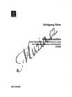 Rihm Wolfgang   Nebendraußen   Klavírní výtah - Noty pro sólový zpěv