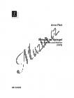 Pärt Arvo | Spiegel im Spiegel | Noty na altovou příčnou flétnu