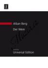Berg Alban   Der Wein, -  Konzertarie mit Orchester   Studijní partitura - Noty pro sólový zpěv