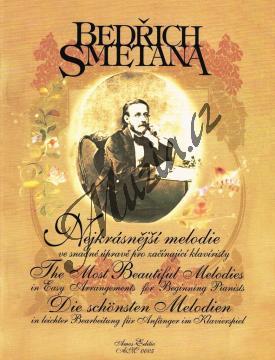 Smetana Bedřich   Nejkrásnější melodie ve snadné úpravě pro začínající klavíristy   Noty na klavír - AM0005.jpg