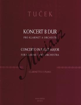 Tuček Václav | Koncert B dur pro klarinet a orchestr | Klavírní výtah - Noty na klarinet - AM0012.jpg