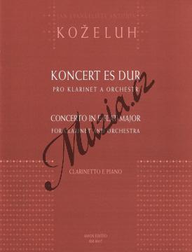 Koželuh Jan Evangelista Antonín   Koncert Es dur pro klarinet a orchestr   Klavírní výtah - Noty na klarinet - AM0017.jpg