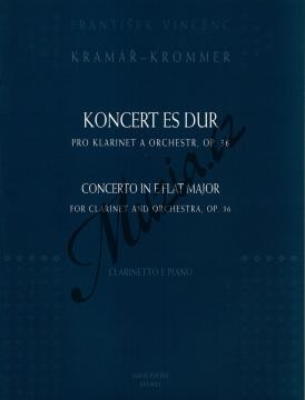 Kramář-Krommer František | Koncert pro klarinet a orchestr, opus 36 | Klavírní výtah - Noty na klarinet - AM0021.jpg