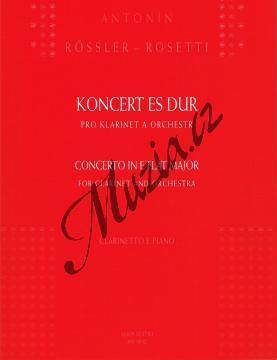 Rőssler-Rosetti Antonín | Koncert Es dur pro klarinet a orchestr | Klavírní výtah - Noty na klarinet - AM0032.jpg