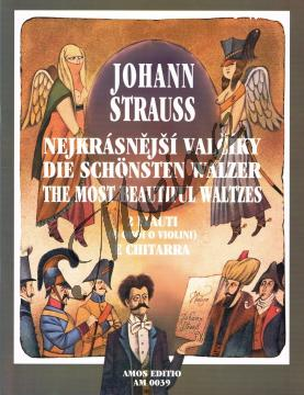 Strauss Johann   Nejkrásnější valčíky pro 2 flétny a kytaru   Noty na příčnou flétnu - AM0039.jpg