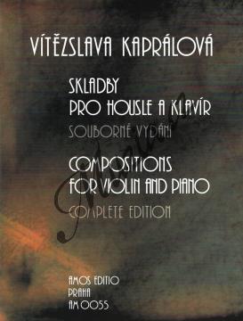 Kaprálová Vítězslava | Skladby pro housle a klavír | Noty na housle - AM0055.jpg