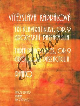 Kaprálová Vítězslava | Tři klavírní kusy, op. 9, Groteskní passacaglia | Noty na klavír - AM0060.jpg