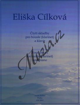 Cílková Eliška | Čtyři skladby pro housle (nebo klarinet) a klavír | Noty na housle - AM0061.jpg