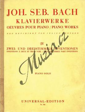 Bach Johann Sebastian | Dvouhlasé invence a tříhlasé sinfonie | Antikvariát-použité zboží! - AntMUZ0001.jpg