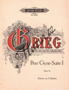 Grieg Edvard   Peer Gynt - Suite I Op. 46   Antikvariát-použité zboží! - AntMUZ0020.jpg