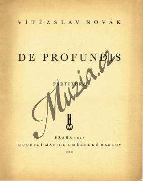 Novák Vítězslav | De profundis - symfonická báseň pro velký orchestr a varhany | Velká partitura - Antikvariát-použité zboží! - AntMUZ0058.jpg