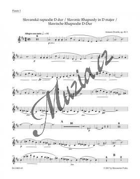 Dvořák Antonín | Slovanská rapsodie D dur op. 45/1 | Set partů-harmonie - Noty pro orchestr - BA10401-65.jpg