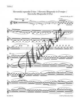 Dvořák Antonín | Slovanská rapsodie D dur op. 45/1 | Part-Housle 1 - Noty pro orchestr - BA10401-74.jpg