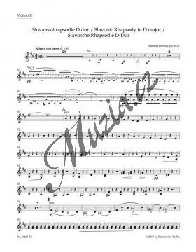 Dvořák Antonín | Slovanská rapsodie D dur op. 45/1 | Part-Housle 2 - Noty pro orchestr - BA10401-75.jpg