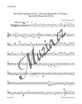 Dvořák Antonín | Slovanská rapsodie D dur op. 45/1 | Part-Kontrabas - Noty pro orchestr - BA10401-85.jpg