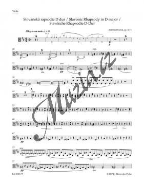 Dvořák Antonín   Slovanská rapsodie g moll op. 45/2   Part-Viola - Noty pro orchestr - BA10402-79.jpg