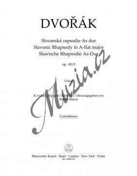 Dvořák Antonín | Slovanská rapsodie As Dur op. 45/3 | Part-Kontrabas - Noty pro orchestr - BA10403-85.jpg