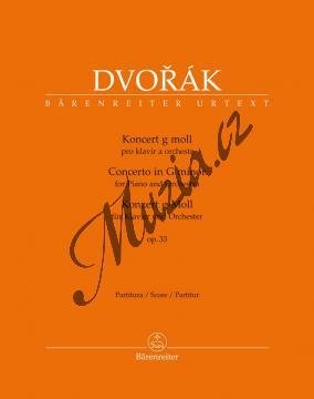 Dvořák Antonín | Koncert g moll pro klavír a orchestr op. 33 | Partitura - Noty na klavír - BA10420.jpg