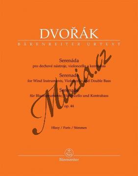 Dvořák Antonín   Serenáda pro dechové nástroje, violoncello a kontrabas op. 44   Set partů - Noty-komorní hudba - BA10424-22.jpg