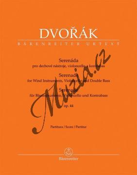 Dvořák Antonín | Serenáda pro dechové nástroje, violoncello a kontrabas op. 44 | Partitura - Noty-komorní hudba - BA10424.jpg