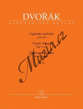 Dvořák Antonín | Cigánské melodie op. 55 - pro vyšší hlas | Noty pro sólový zpěv - BA10431.jpg