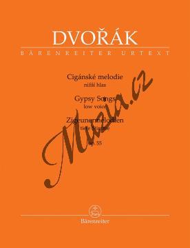 Dvořák Antonín | Cigánské melodie op. 55 - pro nižší hlas | Noty pro sólový zpěv - BA10432.jpg