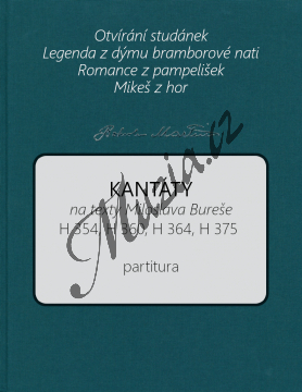 Martinů Bohuslav | Kantáty na texty Miloslava Bureše | Partitura - Noty pro sbor - BA10575-01.jpg