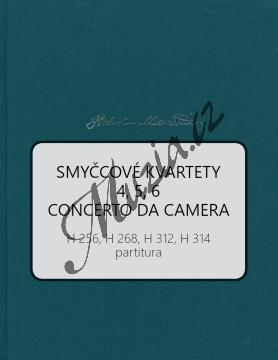 Martinů Bohuslav | Smyčcové kvartety 2 | Partitura - Noty pro smyčcový kvartet - BA10576-01.jpg