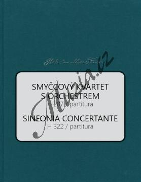 Martinů Bohuslav   Smyčcový kvartet s orchestrem H 207, Sinfonia Concertante H 322   Partitura - Noty pro orchestr - BA10577-01.jpg