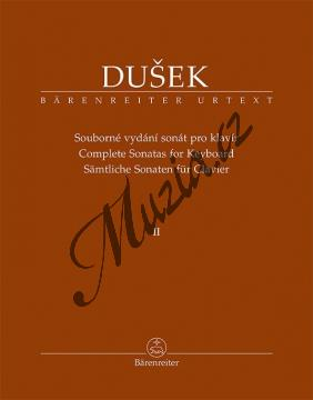 Dušek František Xaver | Souborné vydání sonát pro klavír 2. díl | Noty na klavír - BA11514.jpg