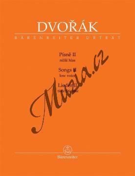 Dvořák Antonín   Písně 2. díl - pro nižší hlas a klavír   Noty pro sólový zpěv - BA11518.jpg