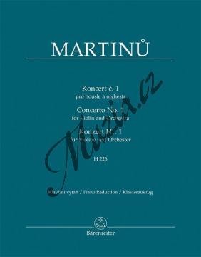 Martinů Bohuslav | Koncert č. 1 pro housle a orchestr, H 226 | Klavírní výtah - Noty na housle - BA11527-90.jpg