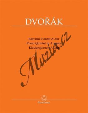 Dvořák Antonín   Klavírní kvintet A dur op. 5   Partitura a party - Noty pro orchestr - BA11539.jpg